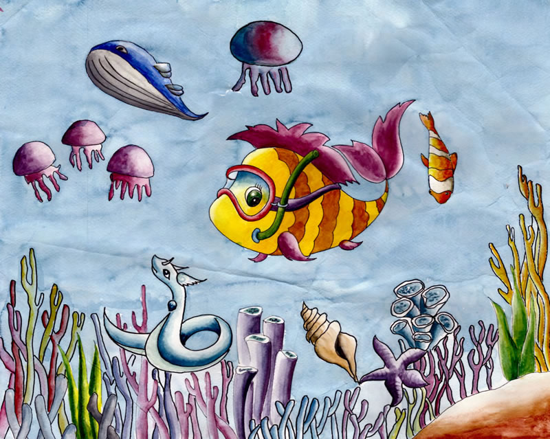 Nityashri Sankaran, Age 11, Sharjah, United Arab Emirates; Protect the Colourful Seabed
