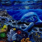 Claire Qu, Age 12, Sugar Land, TX; Ocean at Nightfall