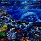Claire Qu, Age 12, Sugar Land, TX; Ocean at Nightfall