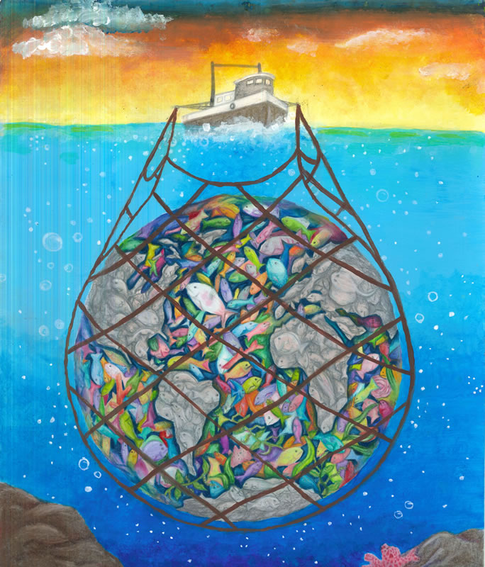 """""""What's in an IUU Fishers' Net?"""" by Ashley Ayeri, Age 15, Virginia"""