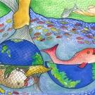 """We Protect Our Oceans Resource"" by Dharunigsa Naguleshwaran, Age 11, Sri Lanka"