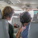 Dr. Andrew Bruckner and Dr. Sam Purkis conduct an aerial survey.