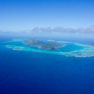 Arial view of the Austral Islands.