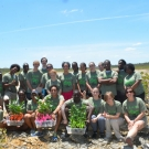Forest Heights Academy is ready to plant their mangrove seedlings.