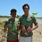 11th grade Marine Science students at Forest Heights Academy are getting ready to plant their mangroves.