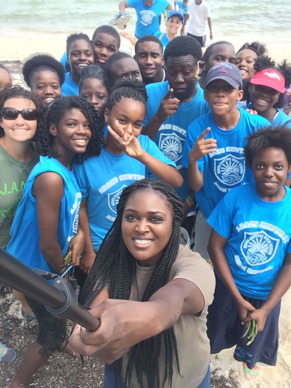 2.Group shot of students from Abaco Central High School participating in the B.A.M. Program.