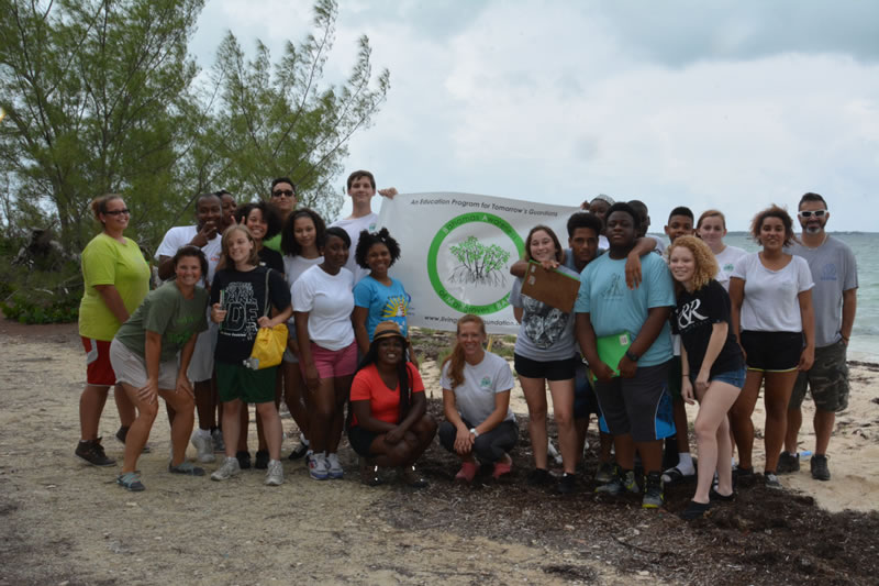 7.Forest Heights Academy students participating in the B.A.M. program take a group shot after their first successful field trip to the mangrove forest.