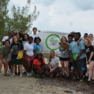 7.	Forest Heights Academy students participating in the B.A.M. program take a group shot after their first successful field trip to the mangrove forest.