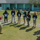 Students at Forest Heights Academy form a mangrove food web.
