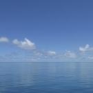 Glassy calm seas make for happy scientists in the Chagos Archipelago.