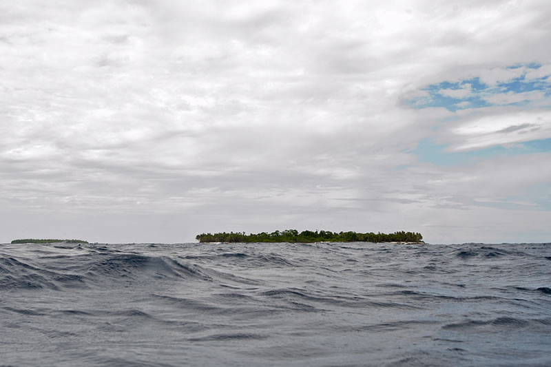 Water level view of Middle Brother Islands taken at the surface while waiting to be picked up by the dive boat.