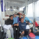 The Science team returns from a dive.