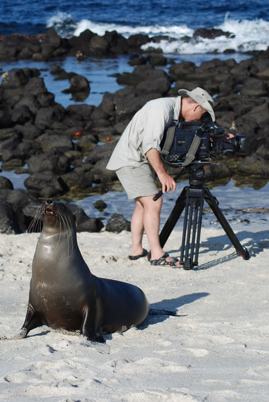 Cameraman Doug Allan joined us on the Global Reef Expedition in the Galapagos