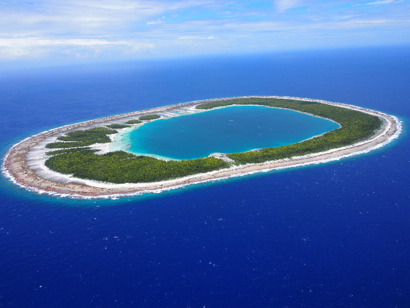 Gambier Islands French Polynesia Coral Reef Research Of