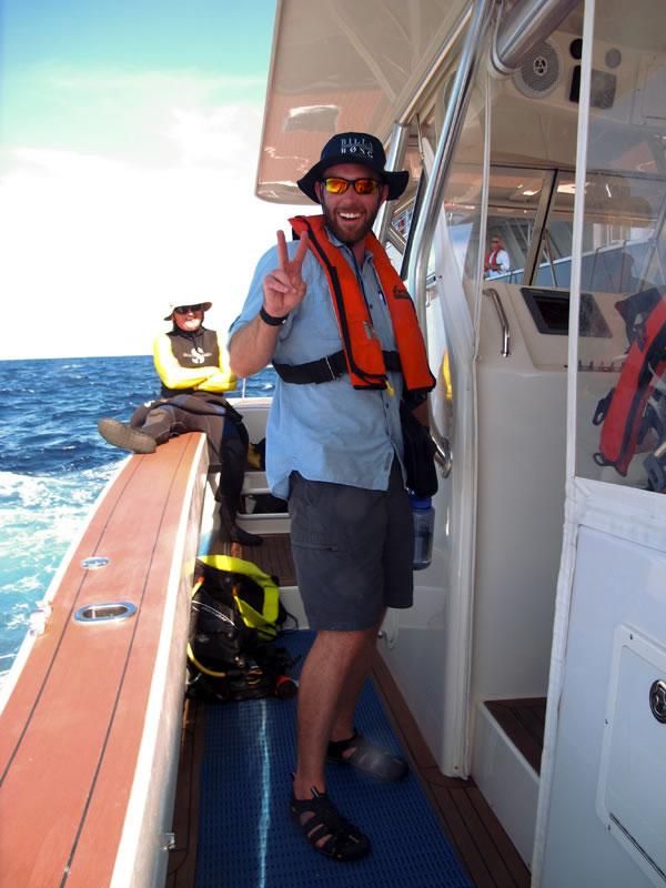 Dive Safety Officer Jonathan Barnes