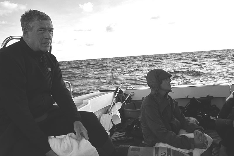 Phil Renaud and Katie Lubarsky onboard the Calcutta dive boat.