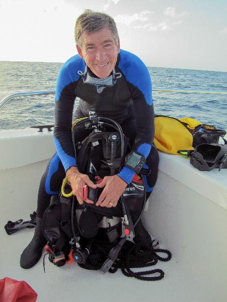 CAPT Phil Renaud prepares for a dive.