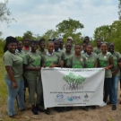Group photo with students from Holland High School before we restored the mangroves