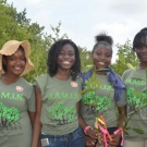 William Knibb High School students get ready to plant their mangrove propagules at the Falmouth restoration site.