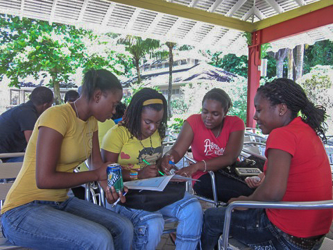 Educational outreach in Jamaica.