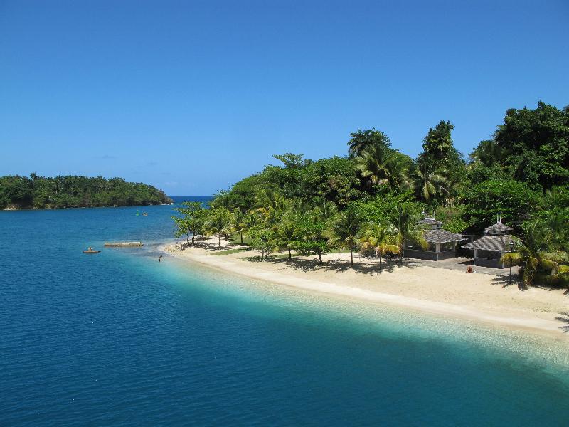 Beautiful coastline in Jamaica.