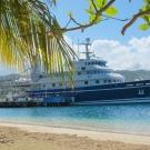The Golden Shadow docked in Jamaica.