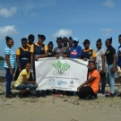 Marcus Garvey Technical School J.A.M.I.N. participants at Seville Heritage Park mangroves.