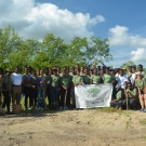 Wiliam Knibb High School J.A.M.I.N. year 2 participants at Falmouth mangrove site.