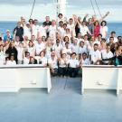 The participants bid farewell to the Galápagos Islands. (© Andreas Krueger/UNESCO)
