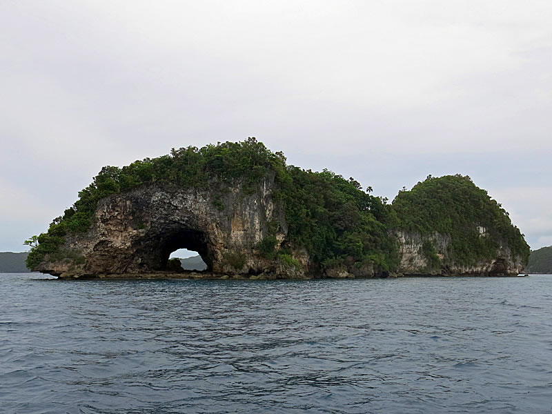 The rock islands of Koror provide magnificent scenery on the surface
