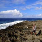 Bernard, an expert divemaster from Sam's Tours, at Anguar, Palau