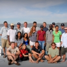 Our coral reef survey team for the Global Reef Expedition\'s mission to Jamaica.