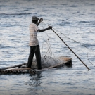 jamaaA man fishing from his raft in Jamaica.can-man-fishing-from-his-raft-at-pedro-bank