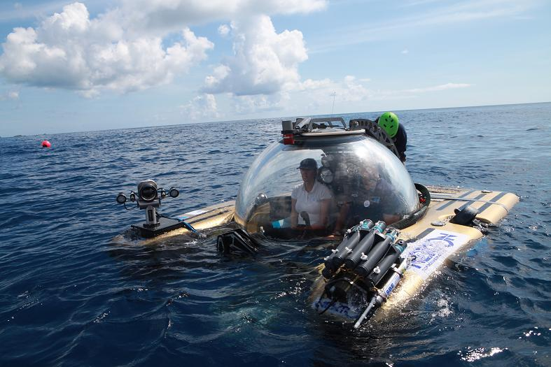 Dr. Fanny Douvere is ready to take the submersible deep beneath the waves of the Sargasso Sea.