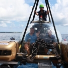 Captain Philip G. Renaud of the Khaled bin Sultan Living Oceans Foundation heads out on a 2nd Nekton submersible.