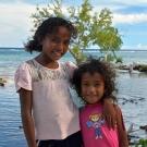 Sisters near Titiana Village, Gizo Island.