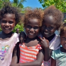Some young girls of Bareho Village pose for a photograph.