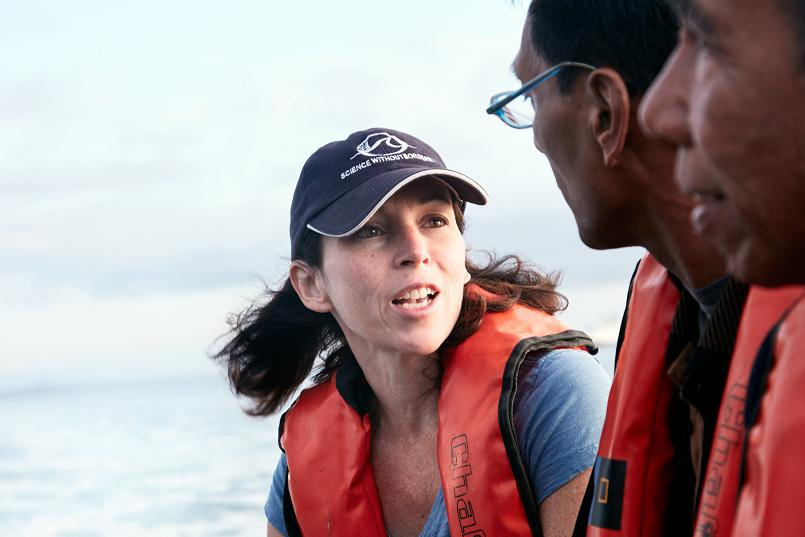 Alison Barrat Director of Communications at the Khaled bin Sultan Living Oceans Foundation. (© Andreas Krueger/UNESCO)