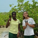 It looks like these students from Forest Heights Academy have found more than enough mangrove seedlings to plant when they return to the classroom.