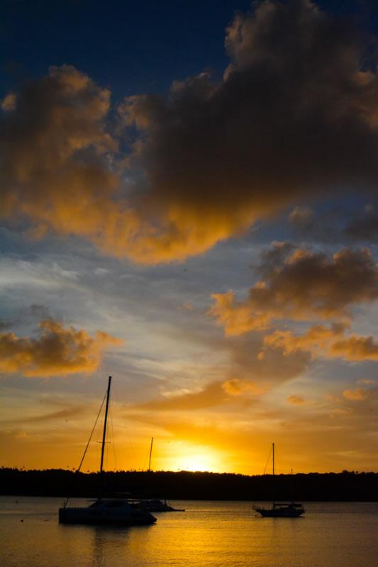 Sunset over Neiafu harbor in Vava'u