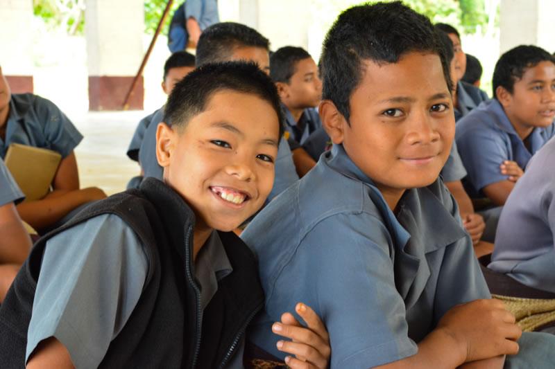 Boys at Vava'u High School