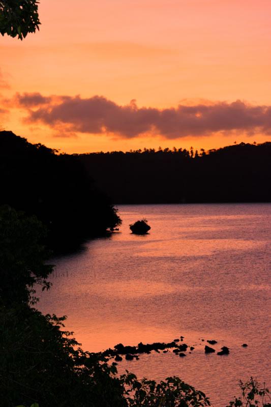 Sunset of Neiafu Harbor in Vava'u