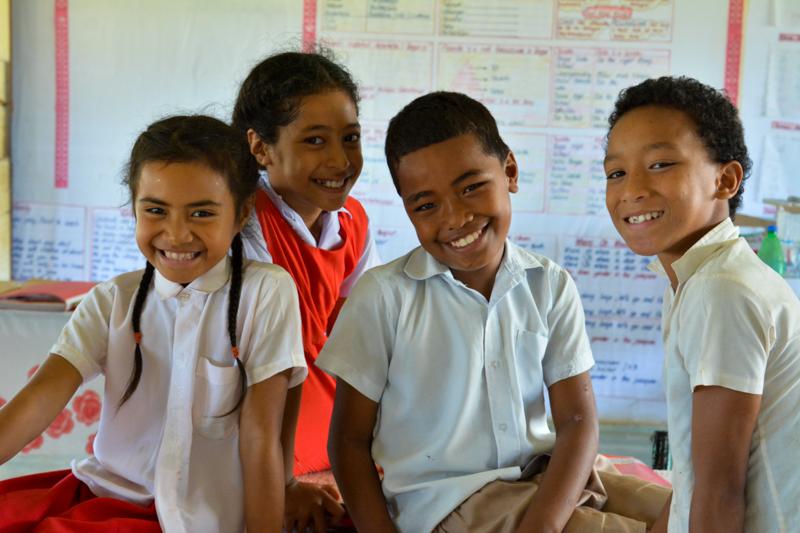GPS Koloa students taking a break from their school work.