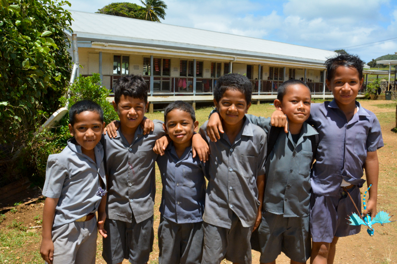 Boys at Vava'u Side School came to tell us goodbye.