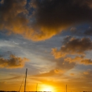 Sunset over Neiafu harbor in Vava'u