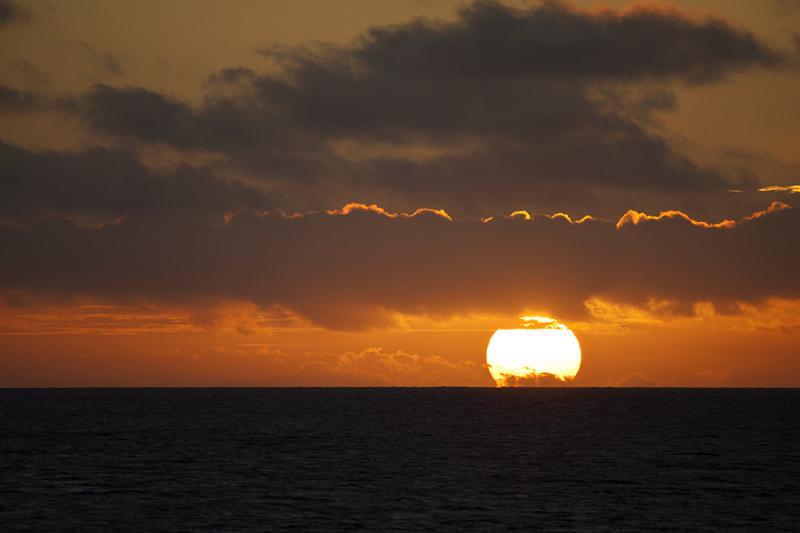 Sunset in Tonga.