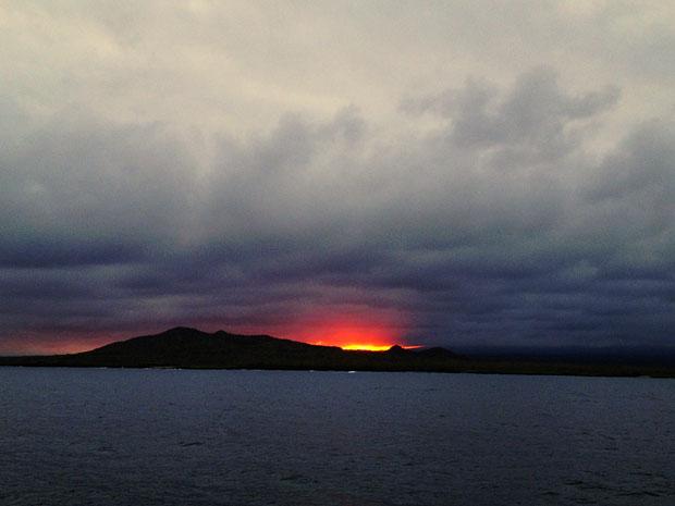 Sunset over Isabela Island