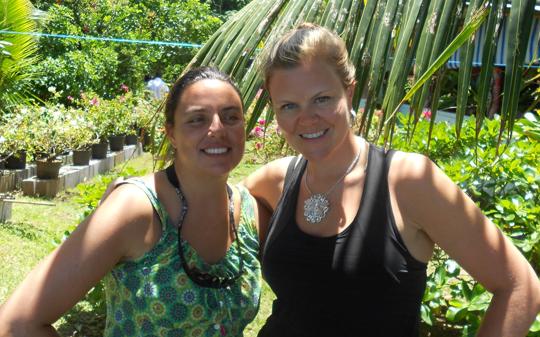 Dr. Sonia Bejarano and Candice Jwaszko