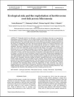 Ecological risk and the exploitation of herbivorous reef fish across Micronesia