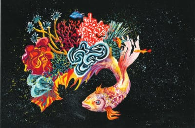 First Place: A Fish Coral Reef by Nikita Bagrintsev, Age 11, Russia